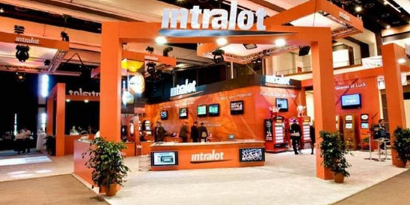 Intralot's booth at an expo.